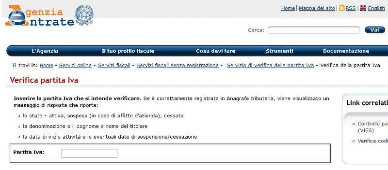 Come verificare una partita IVA italiana e comunitaria